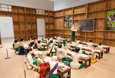 Nge Lay, The sick classroom 2012-13, purchased 2015 by the Queensland Art Gallery | Gallery of Modern Art Foundation, Queensland Art Gallery collection, Photograph by QAGOMA