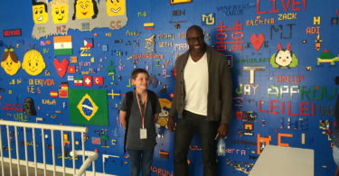 Hamish with Ime Archibong, with Facebook's director of partnerships at Facebook HQ in the US. Photo supplied
