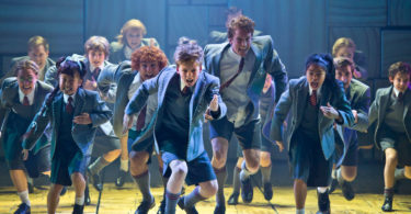 On stage with Matilda the Musical. Photo: James Morgan
