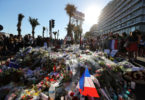 People have laid lots of flowers to remember those who lost their lives in Nice on Bastille Day. Photo: Valery Hache, AFP