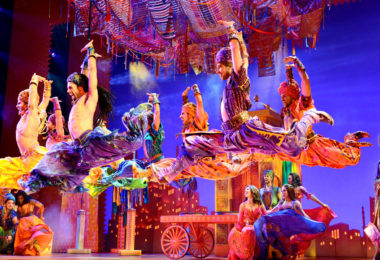 The dancers fly across the stage as they perform Arabian Nights. Photo: Deen van Meer