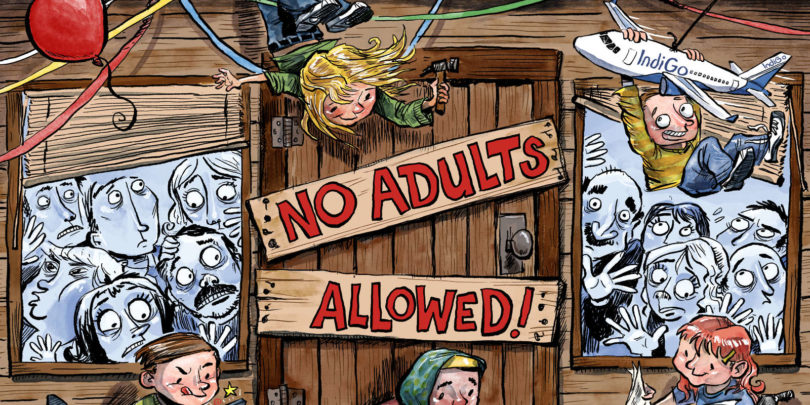 No adults allowed. Illustration: Christopher Downes