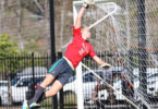 Annie Grove, 15, is tall and she can jump high, making her a perfect goalkeeper. Photo:The Women's Game