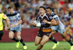 Brisbane Broncos player Alex Glenn in action after returning from a concussion. Photo: NRL Photos