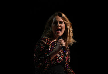 Adele performing on stage at the Grammy music awards in Los Angeles in February, 2017. She toured Australia in March. Photo: Valerie Macon, AFP