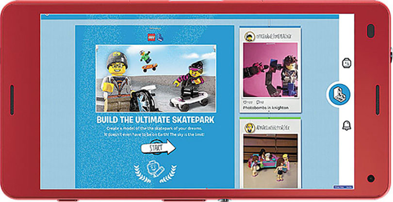 Lego Life screen.