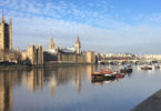 Looking over the Thames at the UK parliament and Big Ben in London on a peaceful morning. Photo: Robert Wainwright