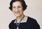 Professor the Hon Dame Marie Bashir with the Officer of the Order of Australia - female medal. Photo: supplied