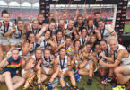 The Adelaide Crows beat the Brisbane Lions in the first AFL women's grand final. Photo: courtesy AFL Photos