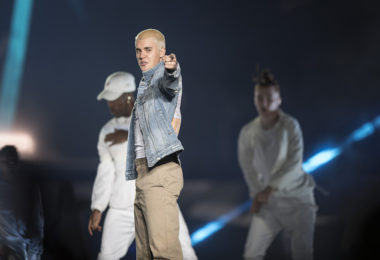 The singer Justin Bieber performing in Mexico on February 18, 2017. Photo: Notimex/Especial/AFP