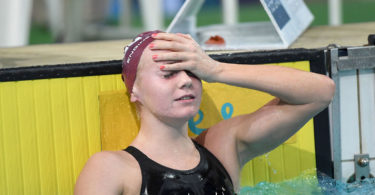Brisbane teenager Ariarne Titmus could not believe she had won the 800m freestyle final at the Australian swimming championships with the fastest time in the world this year. Photo: Hanson Media