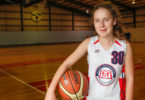 Ella Edwards, 13, is off to basketball camp at one of the US's most prestigious universities, Princeton. Photo: Western Weekender, Melinda Jane