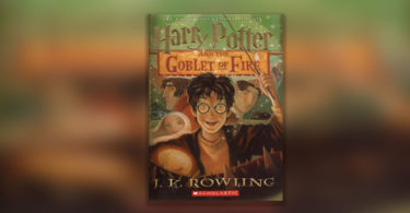 Harry Potter and the Goblet of Fire book cover.