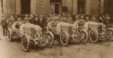 The Delage Type-S racing team in France in 1914. Photo: Phil Guilfoyle, Vintage Restoration Management, CSIRO