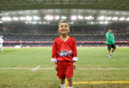 Elijah Ihanimo, six, from Perth, is one of the nominees for the 2017 AFL Auskicker of the Year. Photo: AFL Media