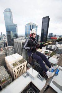 Lewis Martin turned 18 on the day he abseiled down a Melbourne skyscraper on April 29. 2017. Photo: Elizabeth Clancy