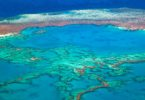 The Great Barrier Reef at the Whitsundays in Queensland taken in 2014. Photo: Arterra, UIG via Getty Images