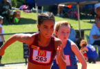 Torrie Lewis in action at the regional Little Athletics championships at Glendale, Newcastle, NSW, in 2016. Photo: supplied