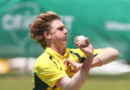 Will Sutherland bowls during the tour match between Pakistan and the CA XI at Allan Border Field on January 10, 2017 in Brisbane. Photo: Chris Hyde, Cricket Australia, Getty Images
