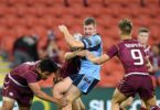 Jaron Purcell in action in the 16-years-and-under curtain-raiser at the State of Origin decider. Photo NSW Rugby League.jpg