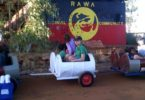 Metal drums have been turned into train carriages to get kids in the Aboriginal community of Punmy in the Pilbara, WA to school. Photo: supplied