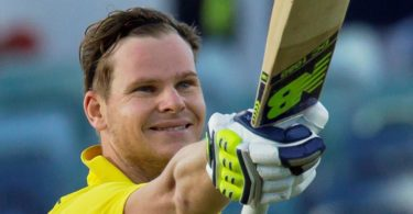 Australia's cricket captain Steve Smith after scoring a century during the third one-day international cricket match between Pakistan and Australia at the WACA in Perth. Photo: Tony Ashby, AFP