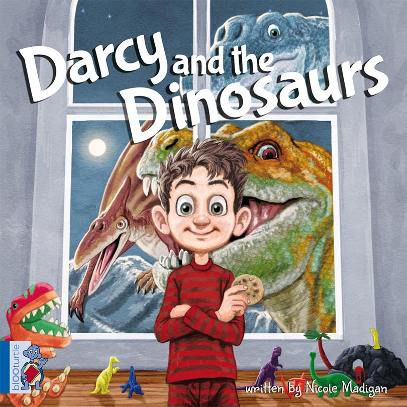 Darcy and the Dinosaur is a picture book printed using eco-friendly publishing methods.