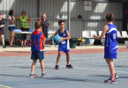 Desi Morgan, 8, is the only boy in his under-11 netball competition and he loves being a trailblazer. Photo Picola United Football, Netball Club.