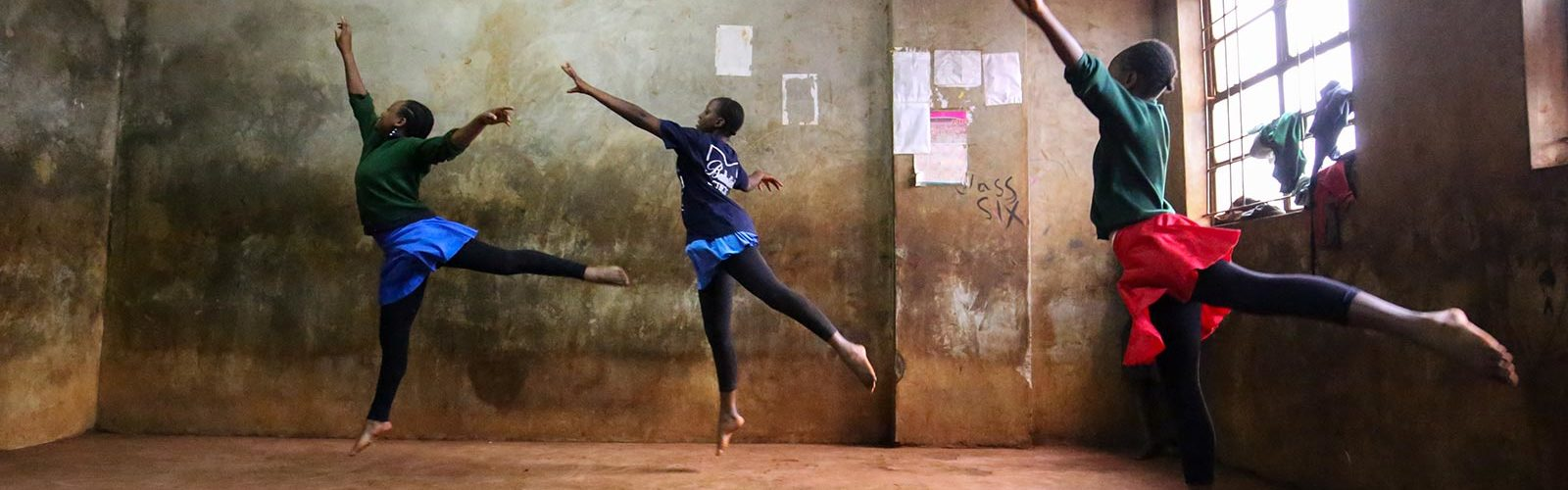 Students rehearse at the Anno's Africa/One Find Day ballet school in Kibera, Nairobi. Photo: Jay Court