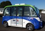 The NSW smart shuttle is an electric car that can drive on roads without a driver! It has already started tests in Olympic Park, Sydney. Photo: HMI Technologies