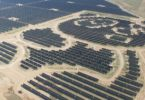 The panda-shaped solar power plant in the Shanxi province of China. Photo: Panda Green Energy Group, UNDP