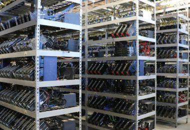 The money machines. Bitcoin mining companies, such as Giga Watt in Washington,United States, use vast arrays of computer hardware to crunch the numbers thatmake new bitcoins. Photo: Giga Watt