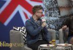 YouTuber Tyler Oakley being interviewed by Sarah Stone at VidCon Australia in September 2017. Photo Elizabeth Clancy
