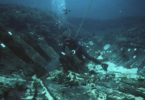 An archaeologist explores the hull of the 1629 wreck of the Batavia. Photo: WA Museum