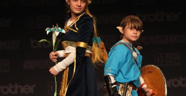 Isabella and Levi dressed as Princess Zelda and Link from The Legend of Zelda for the 2017 Oz Comic-Con in Sydney. Photo: Jacky Ghossein