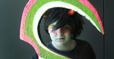Jess, 14, dressed as Karkat Vantas from Homestuck at the 2017 Oz Comic-Con in Sydney. Photo: Jacky Ghossein