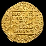 Many ships were lost with their cargo, such as these gold coins, re-discovered on a 1724 shipwreck. Photo: Numisantica