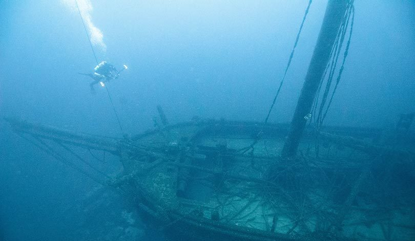 Shipwrecks are like time capsules, freezing a moment in time. Photo: NOAA