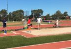 Sang Biak Cung practising long jump at school on sports day. He has a personal best of 4.70m. Photo: Leanne Richards