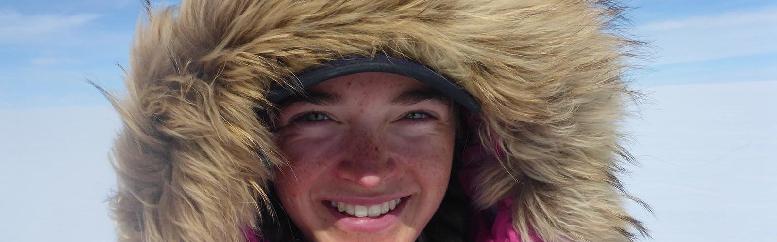 Jade Hameister, 16, starts her third and final trek to the South Pole on December 6. In 2016, she skiied to the North Pole and in June 2017 she walked across the Greenland ice cap, seen here. Photo: WTFN Entertainment