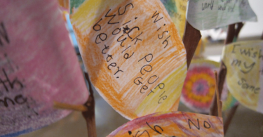 The Wishing Tree was part of an exhibition called 'Special Forever, voices of the children' at the Mildura Arts Centre in rural Victoria. Photo: Lara van Raay