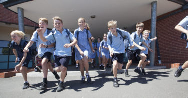 The Year 6 students from St Patrick's Primary School in Murrumbeena, Victoria prepare to leave primary school for the last time. They'll begin high school in 2018. Photo: Elizabeth Clancy