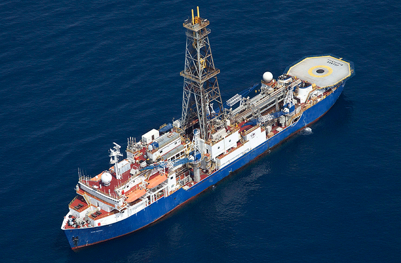 The drill ship JOIDES Resolution. Photo: supplied